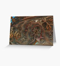 Mandelbulb Seed Pod Greeting Card