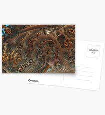 Mandelbulb Seed Pod Postcards