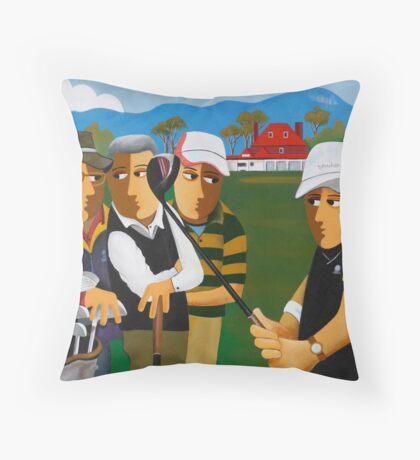 KINGSTON BEACH GOLF Throw Pillow