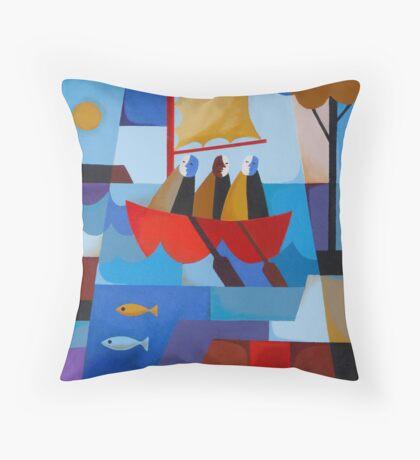 ESCAPE FROM SARAH ISLAND Throw Pillow