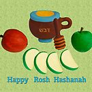 Make the New year Sweeter. Rosh Hashana Greetings by curlyorli