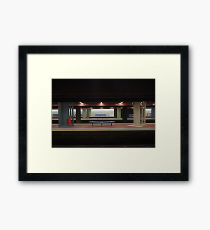 Deserted Train Station Framed Print