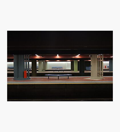 Deserted Train Station Photographic Print