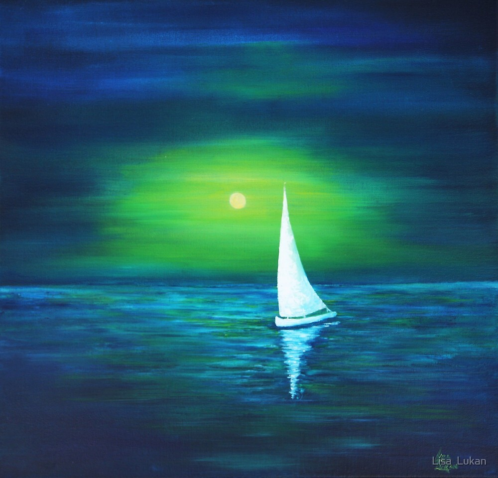 Evening sail by Lisa  Lukan