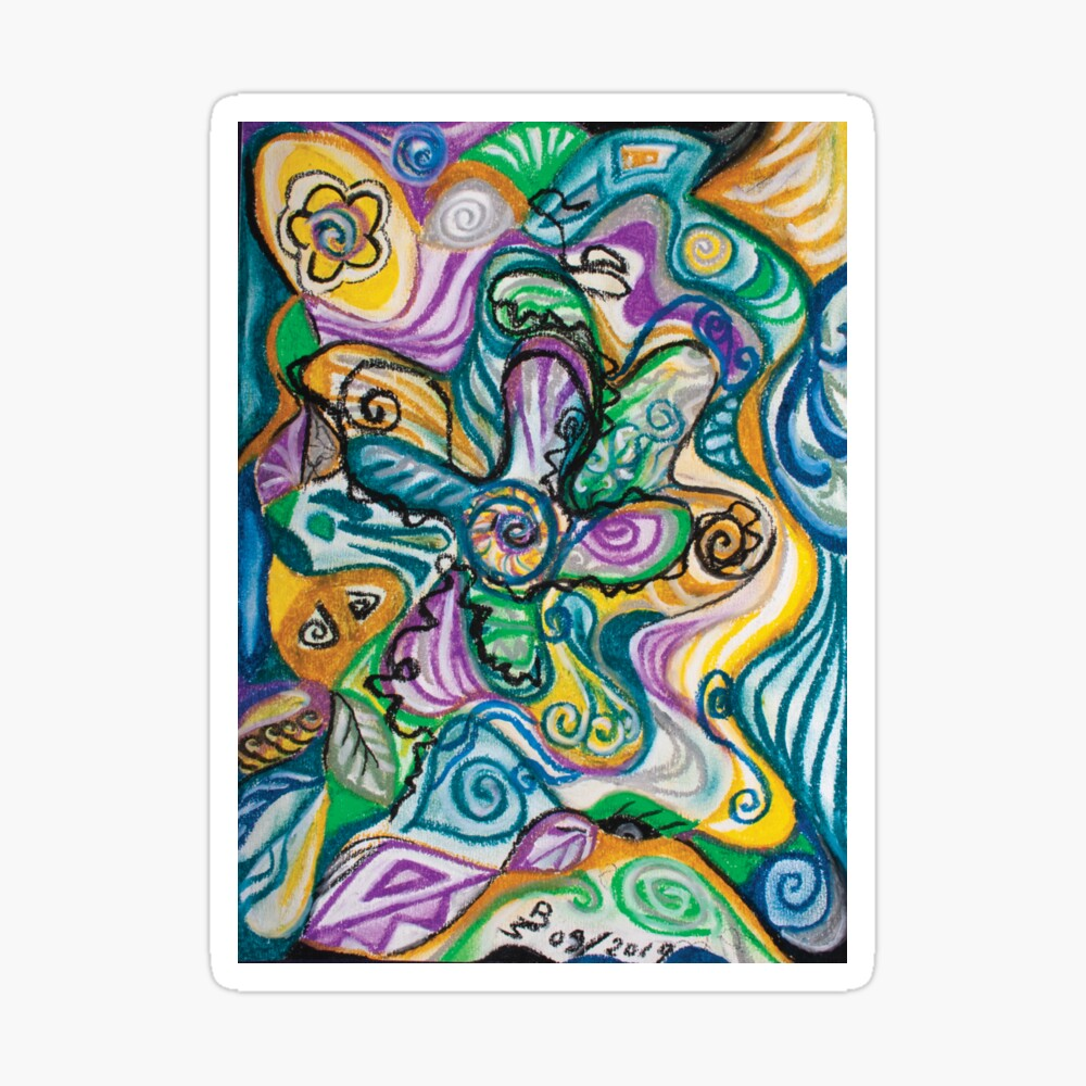 multicolored abstract composition Sticker