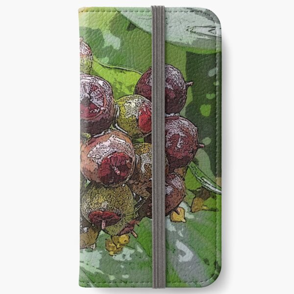 Posterized Ivy Fruits iPhone Wallet