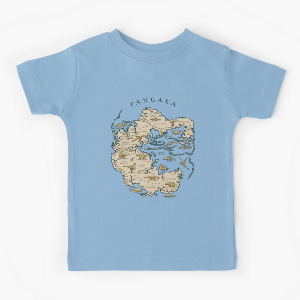 map of the supercontinent Pangaea Kids T-Shirt