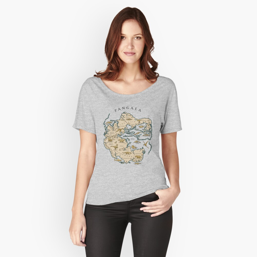 map of the supercontinent Pangaea Relaxed Fit T-Shirt