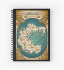 map of the supercontinent Pangaea Spiral Notebook