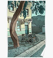 bicycles at the Hotel Poster