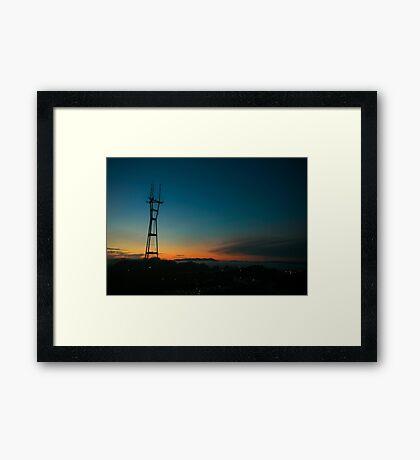 Sutro Sunset Framed Print