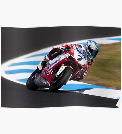 Checa and His Ducati Poster