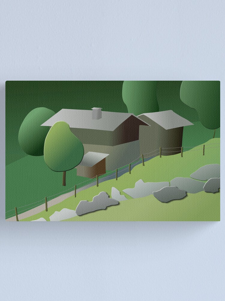 Alternate view of Once upon a time in Ballenberg Canvas Print
