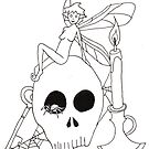 Fairy Sitting on a Skull by webpixie