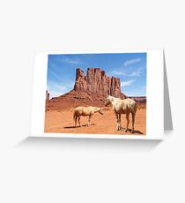 Free at Monument Valley Greeting Card