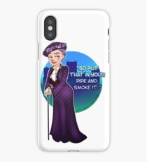Violet Crawley, the Dowager Countess of Grantham iPhone Case
