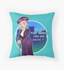 Violet Crawley, the Dowager Countess of Grantham Throw Pillow