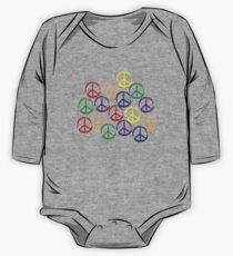 Peace Sign in all colors One Piece - Long Sleeve