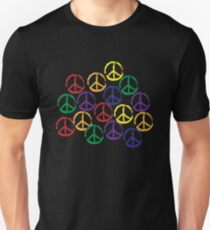 Peace Sign in all colors Unisex T-Shirt