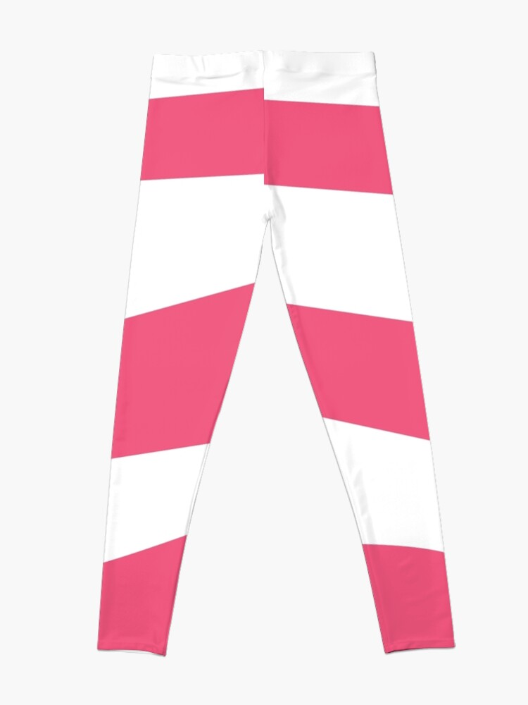Alternate view of Taffyta Muttonfudge inspired pink candy stripe leggings Leggings