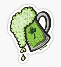 Saint Patrick's Day Glass of Beer Sticker