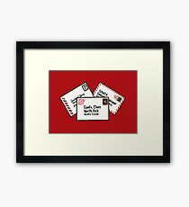 Letters to Santa Framed Print