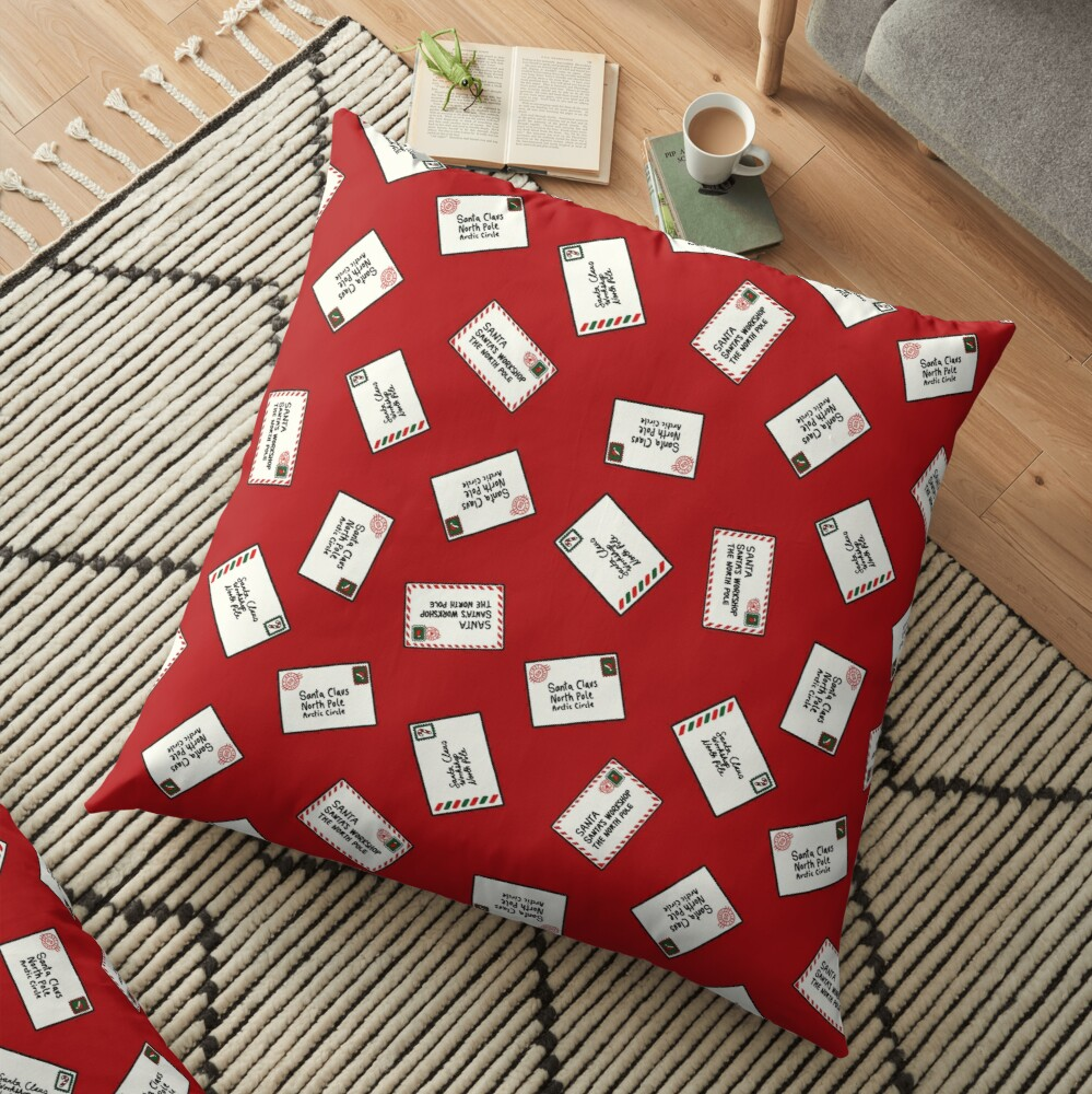 Letters to Santa Floor Pillow