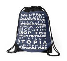 Doctor Who Subway Sign  Drawstring Bag