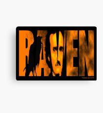 Edgar Allan Poe and The Raven Canvas Print