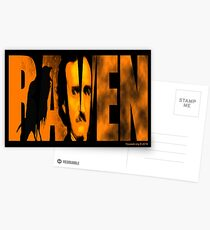 Edgar Allan Poe and The Raven Postcards