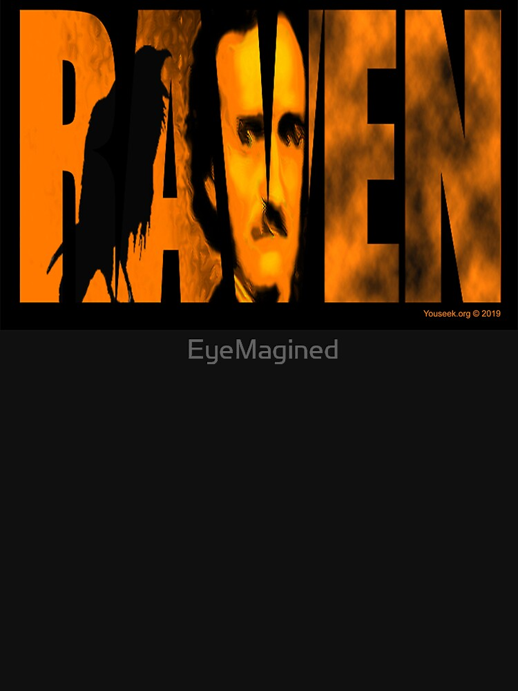Edgar Allan Poe and The Raven by EyeMagined