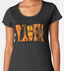 Edgar Allan Poe and The Raven Premium Scoop T-Shirt