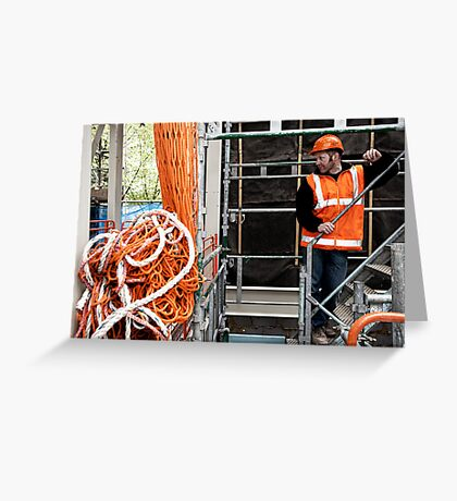 Construction Worker Greeting Card