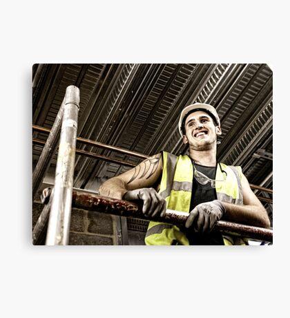 Construction Worker 2 Canvas Print