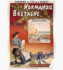 Gustave Fraipont Affiche Ouest Normandie Bretagne Poster