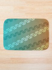DNA stripe pattern Bath Mat