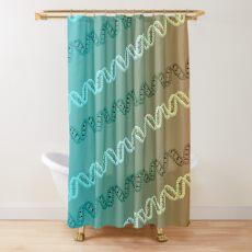 DNA stripe pattern Shower Curtain