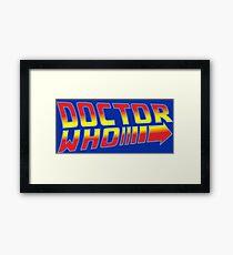 Back to Doctor Who Mash Up  Framed Print