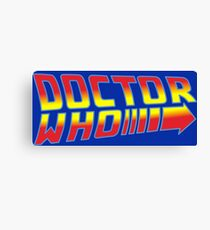 Back to Doctor Who Mash Up  Canvas Print