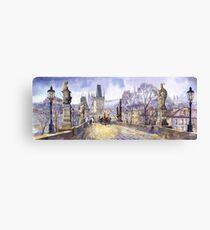 Prague Charles Bridge Mala Strana  Canvas Print