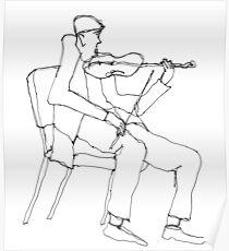 the violin seemed a bit flat Poster