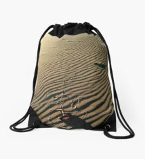 Message in the Sand Drawstring Bag