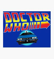 Back to Doctor Who Mash Up with Type 40 Delorean Photographic Print