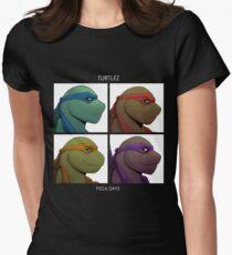 Turtlez: Pizza Dayz Women's Fitted T-Shirt