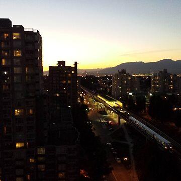 Train Through The City Lights by darkesknight