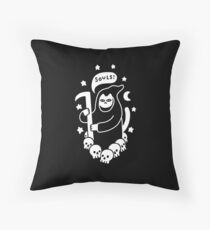 Cat Searching For Souls Throw Pillow