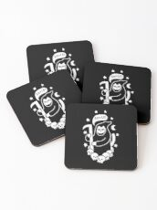 Cat Searching For Souls Coasters