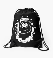 Cat Searching For Souls Drawstring Bag