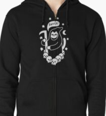 Cat Searching For Souls Zipped Hoodie