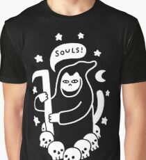 Cat Searching For Souls Graphic T-Shirt